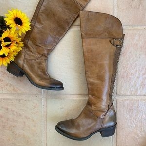 Vince Camuto tall brown leather boots